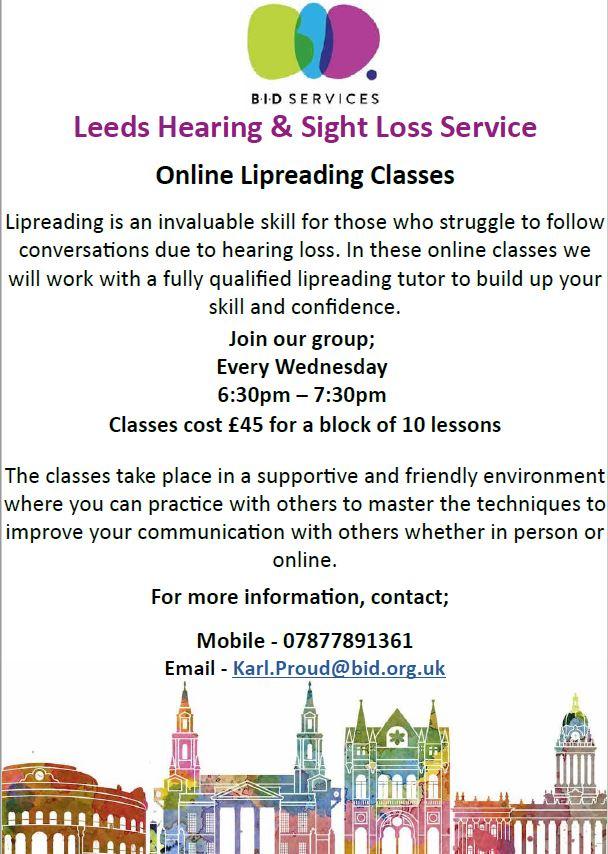BID Services Leeds - Lipreading Class